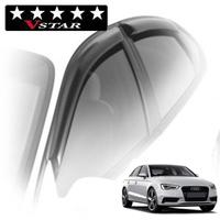 Дефлекторы на окна с хромированным молдингом V-Star для Audi A3 III кузов 8V (седан) 2012-...г.в.