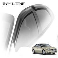 Дефлекторы на окна Sky Line для Audi A4 II/III кузов 8Е,B6\B7 (седан) 2000-2008 г.в.