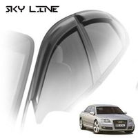 Дефлекторы на окна Sky Line для Audi A8 II кузов D3 (седан Long) 2002-2009 г.в.