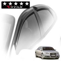 Дефлекторы на окна V-Star для Audi A8 II кузов D3 (седан Long) 2002-2009 г.в.