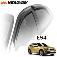 Дефлекторы на окна Headway чёрный молдинг для BMW X1 E84 2009-...г.в.