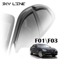 Дефлекторы на окна Sky Line хромированный молдинг для BMW 7-F01\F03 (седан) 2008-...г.в.