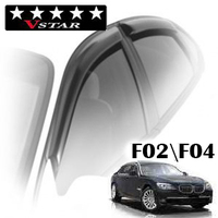 Дефлекторы на окна V-Star хромированный молдинг для BMW 7-F02\F04 (Long) 2008-...г.в.