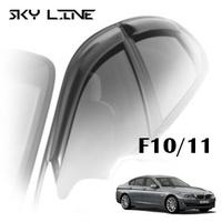 Дефлекторы на окна Sky Line хромированный молдинг для BMW 5-F10\F11 (седан) 2011-...г.в.