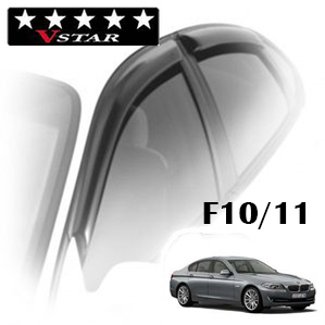 Дефлекторы на окна V-Star хромированный молдинг для BMW 5-F10\F11 (седан) 2011-...г.в.