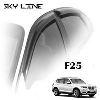 Дефлекторы на окна Sky Line хромированный молдинг для BMW X3 II F25 2010-...г.в.