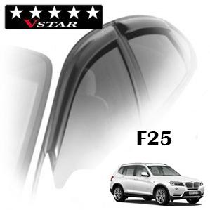 Дефлекторы на окна V-Star хромированный молдинг для BMW X3 II F25 2010-...г.в.