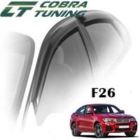 Дефлекторы на окна Cobra Tuning хромированный молдинг для BMW X4 F26 2014-...г.в.