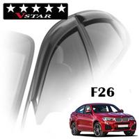 Дефлекторы на окна V-Star хромированный молдинг для BMW X4 F26 2014-...г.в.