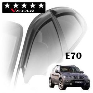 Дефлекторы на окна V-Star хромированный молдинг для BMW X5 E70 2006-2013 г.в.