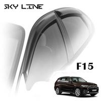 Дефлекторы на окна Sky Line хромированный молдинг для BMW X5 F15/F85 2013-...г.в.