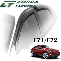 Дефлекторы на окна Cobra Tuning хромированный молдинг для BMW X6 E71/E72 2008-...г.в.