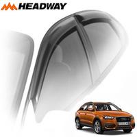 Дефлекторы на окна Headway с хромированным молдингом (нержавейка) для Audi Q3 2011-...г.в.