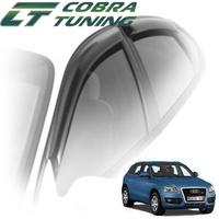 Дефлекторы на окна Cobra Tuning с хромированным молдингом для Audi Q5 2008-...г.в.