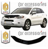"""Отбойник (мухобойка) """"СА-Пластик"""" на капот для Acura RDX I 2006-2012 г.в."""